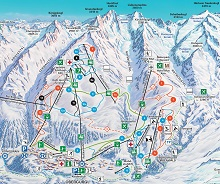Obergurgl Ski Trail Map