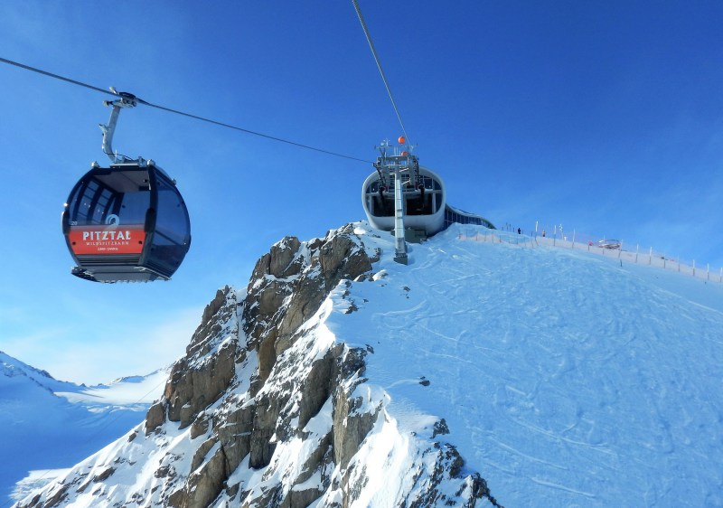 Pitztal Glacier's Wildspitzbahn gondola is Austria's highest lift at 3440m.