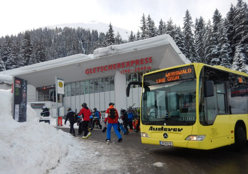 Pitztal Glacier is accessible by bus from the Imst-Pitztal train station.