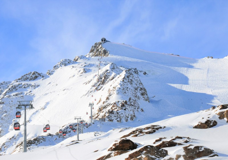 Broad pistes, powder fields and steeps off the Wildspitzbahn at Pitztal.