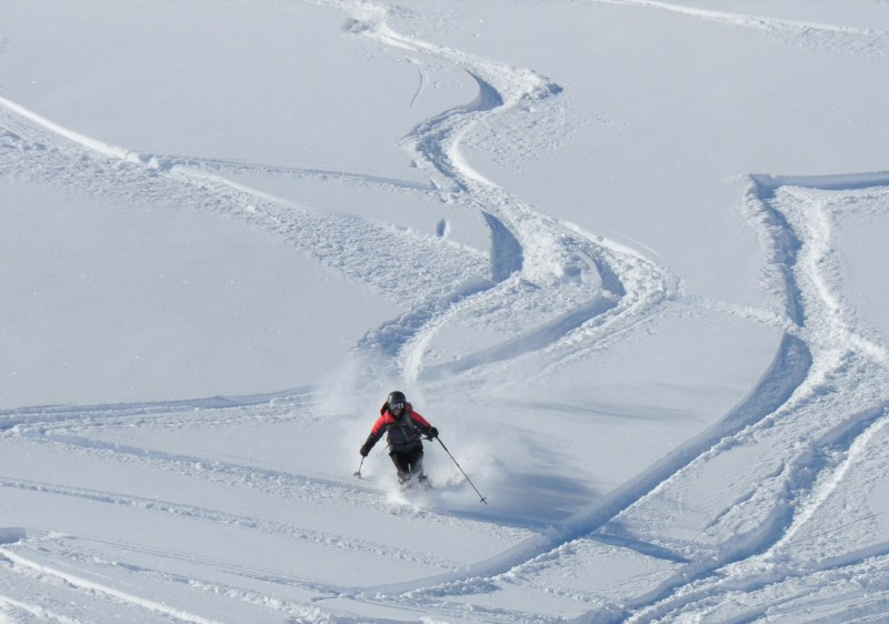 Gentle powder fields, perfect for learning, abound at Pitztal Glacier.