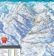 Saalbach Hinterglemm Ski Trail Map