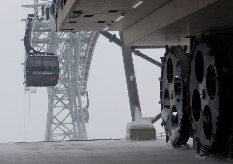 Everything about Sölden is BIG, even the engineering for the modern lift system.
