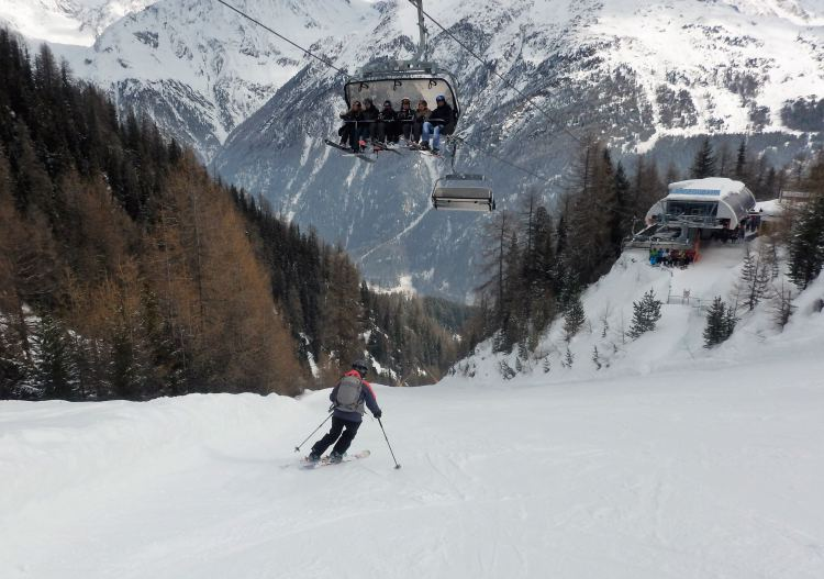 Sölden has big valley descents for all abilities, including one 15km long.