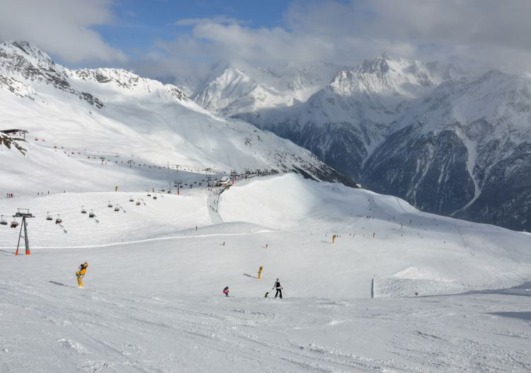 Soelden ski resort Austria