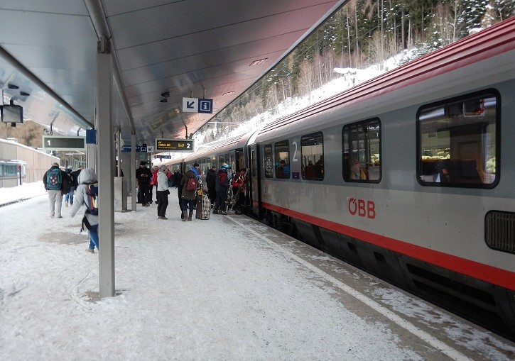 Travel in style to St Anton by train from anywhere in Europe.