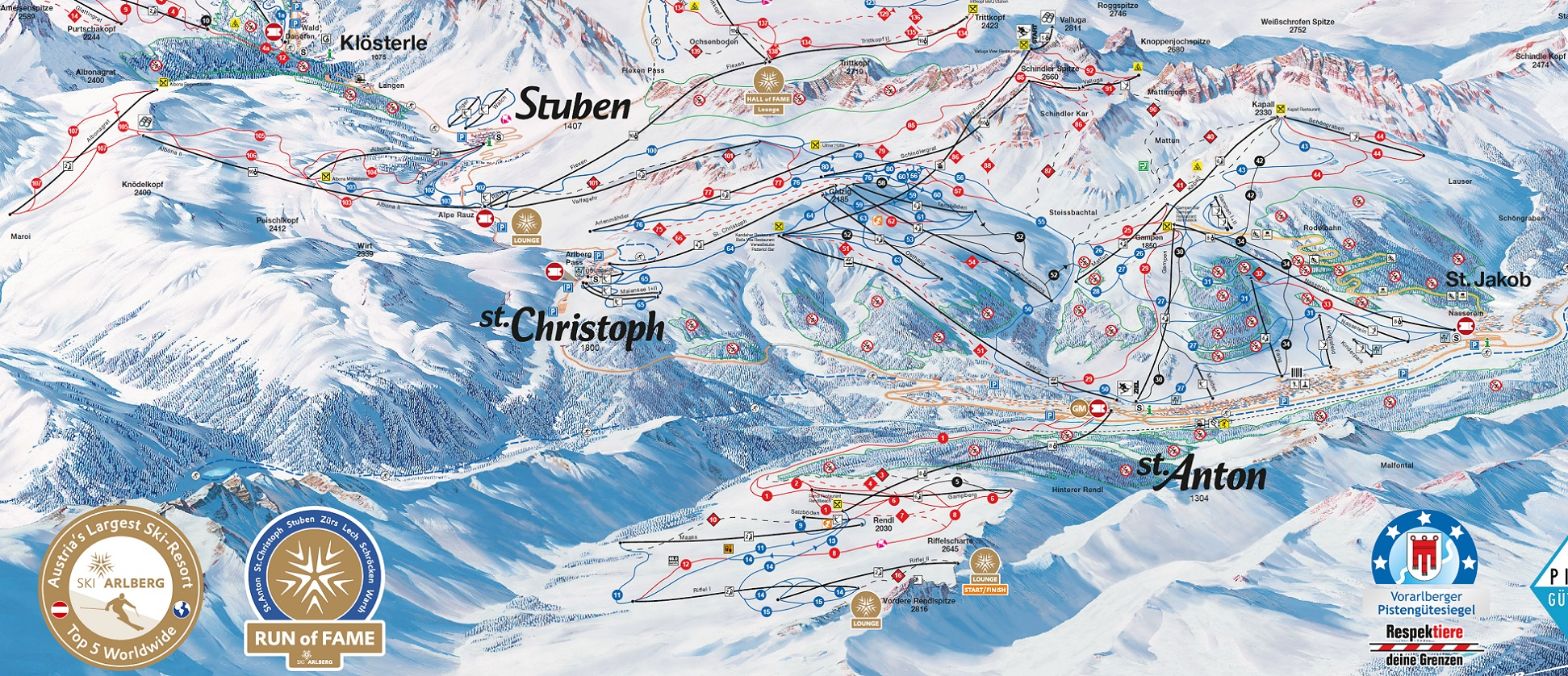 eu ski resort ratings lech trail map