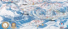 St Anton Ski Trail Map