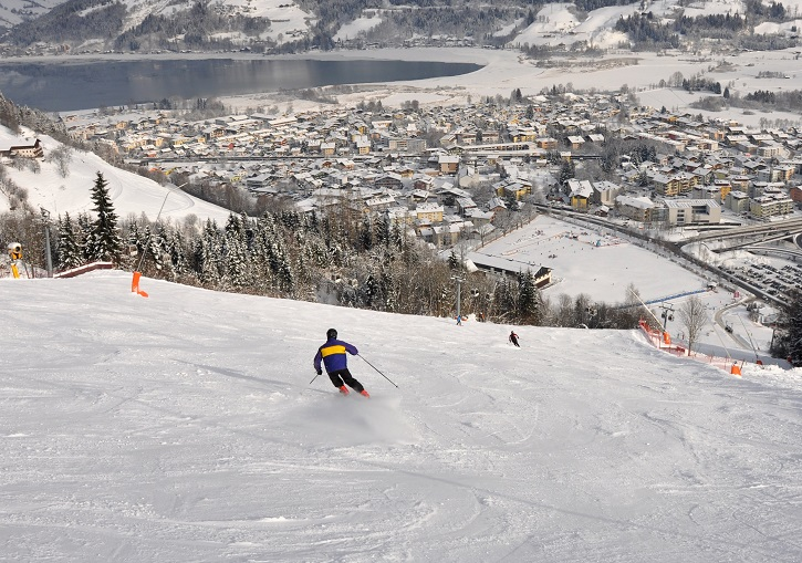 Quality top to bottom piste skiing abounds at Zell am See ski resort.