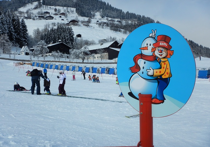 Just what is 'Happy' the clown up to at Zell am See ski resort?