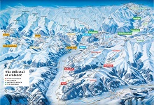 Zillertal Super Ski Pass Resorts Map