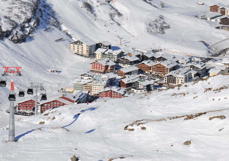 Zurs ski resort, the Arlberg's highest ski base area.