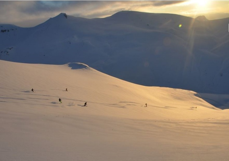 Ski back into the sunset at Eskimo Freeride, Macedonia.