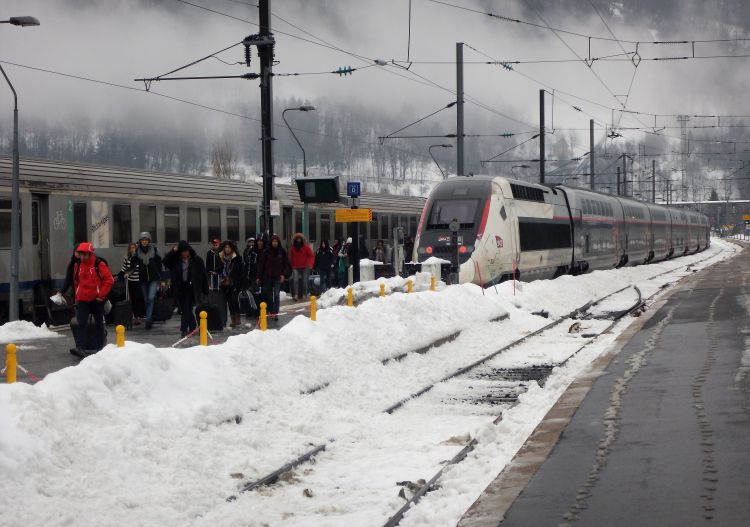 Bourg St Maurice has regular TGV fast train services direct from Paris.