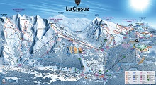 La Clusaz Ski Trail Map