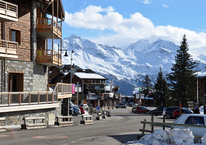 La Rosiere has an attractive high altitude village.