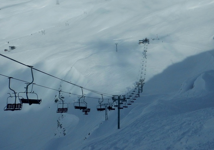 Chardonnet chair has the best quality skiing at La Rosiere.