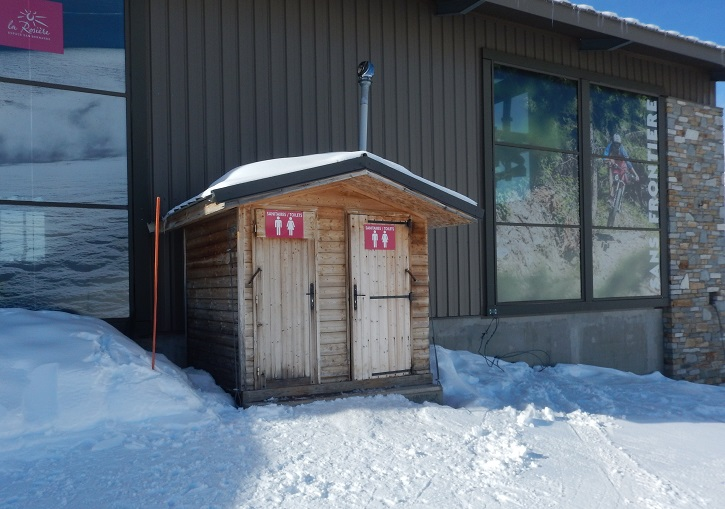 La Rosiere's very poor toilet facility at Le Roc Noir.