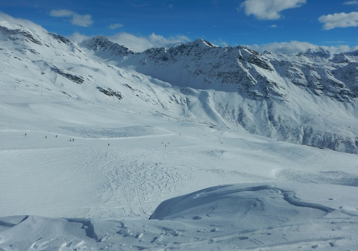 La Rosiere's broad low angle skiing will appeal to most families.