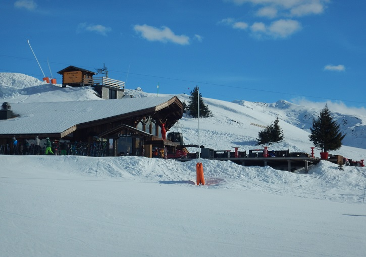 L'Antigel mountain hut at La Rosiere.