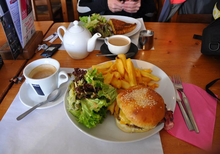 Simple but quality lunch at one of La Rosiere's cafes.