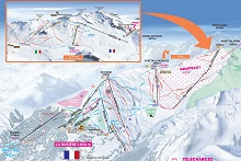 La Rosiere Ski Trail Map