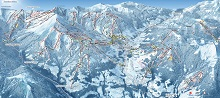Evasion Mont Blanc Ski Trail Map