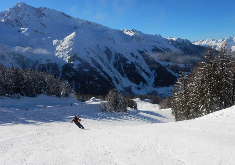 Uncrowded, wide open piste trails are the norm at Sainte Foy.