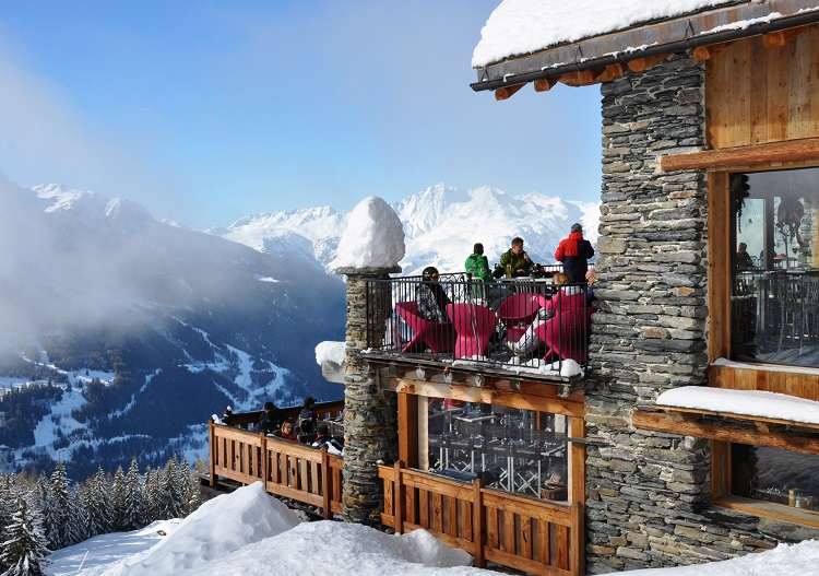 On mountain dining at Sainte Foy is excellent in modern facilities........