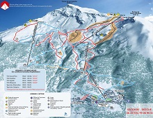 Sainte Foy Ski Trail Map