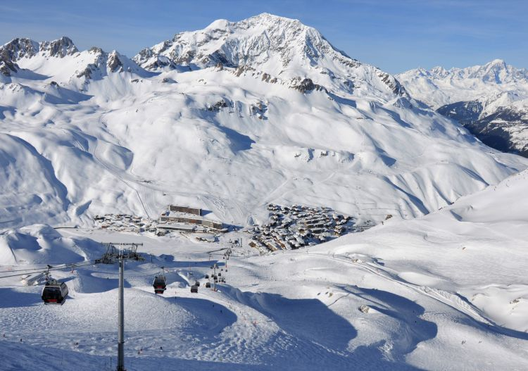 Tignes ski resort in the Tarentaise valley, France.