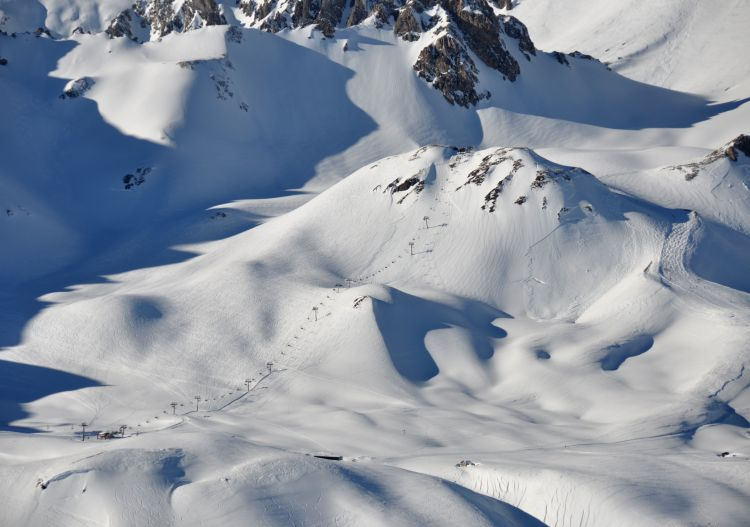 A tiny portion of the Tignes off piste freeride terrain.