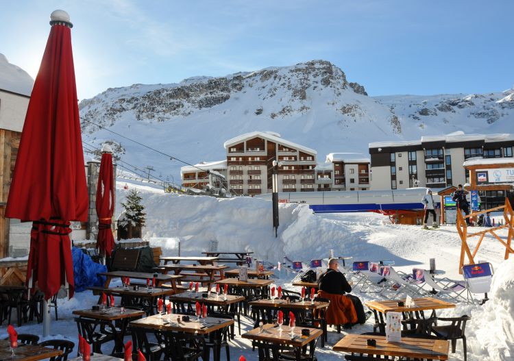Enjoying the high life in the Tignes village of Val Claret.