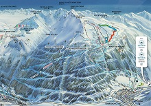 Val Cenis Termignon Sector Ski Trail Map