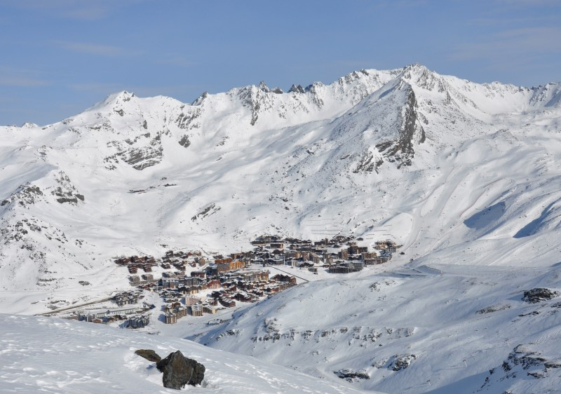 Val Thorens is Europe's highest resort village at 2300m.