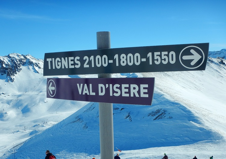 Linked with Tignes, Val d'Isere is a huge ski area.