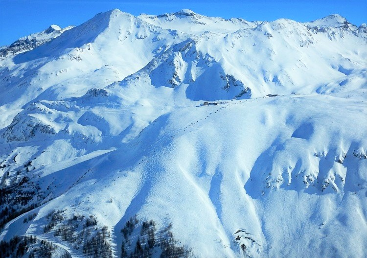 Powder skiing options are vast at Val d'Isere.