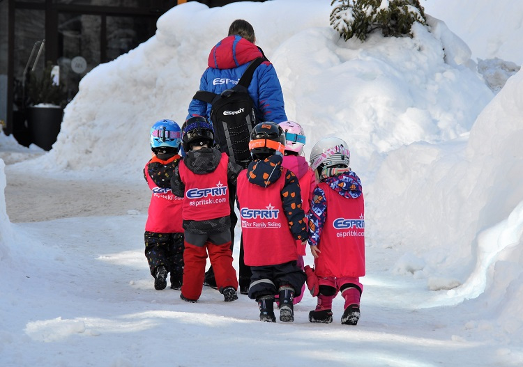 Val d'Isere ski resort is child friendly.