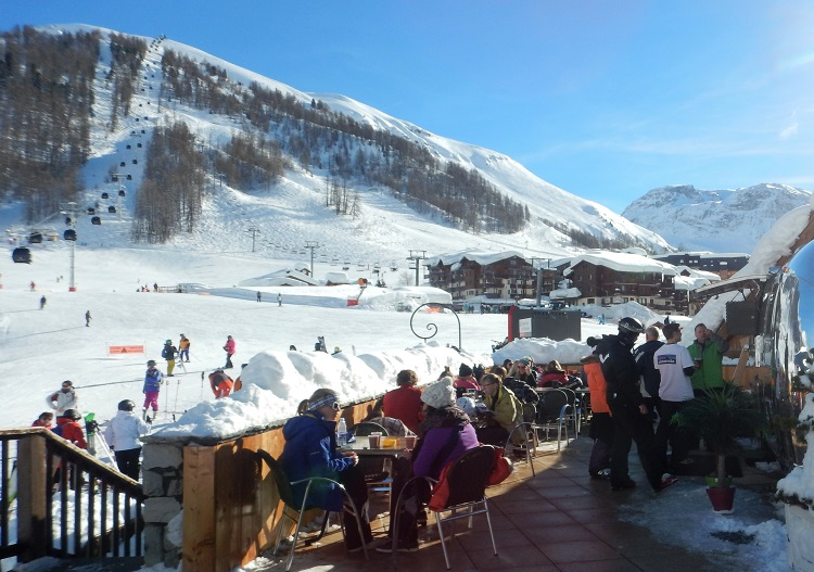 Enjoy Val d'Isere ski resort at the Sun Bar.