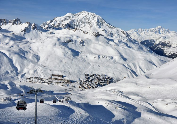 Ski mega resorts in France like Tignes.
