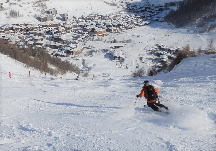 Let it rip down steep Val d'Isere piste trails.