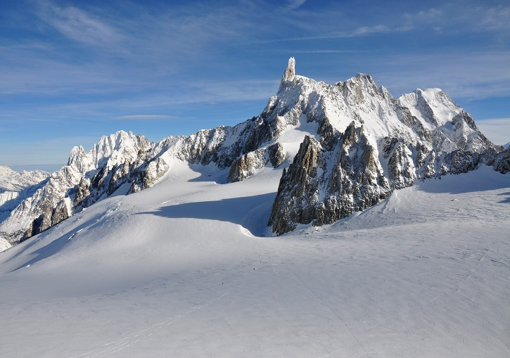 Enjoy the view and ski France (Mont Blanc massif's Dent du Géant).
