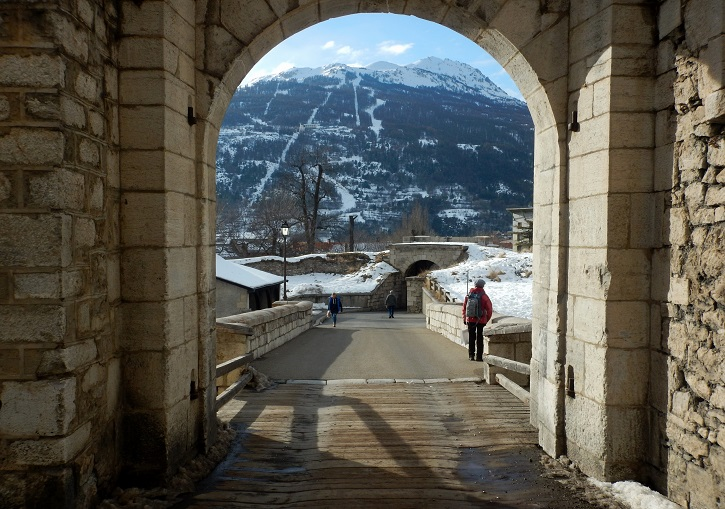 Historic Briançon frames the eastern end of Serre Chevalier ski resort.