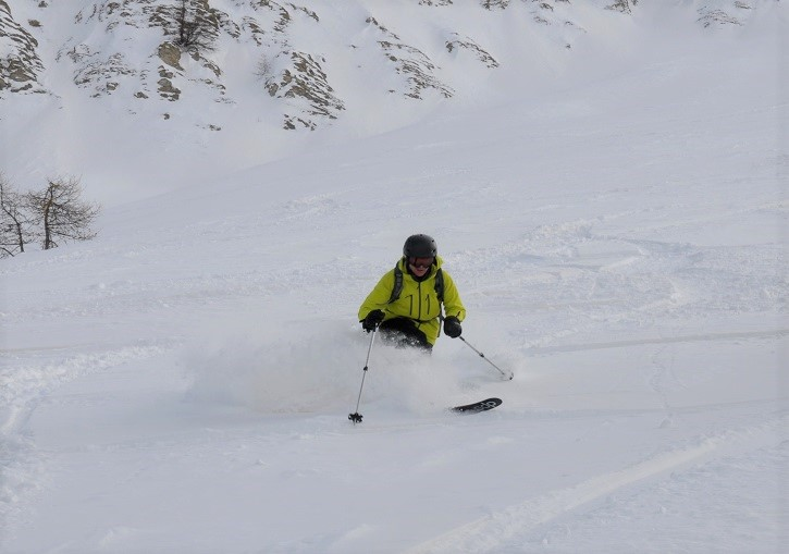 Serre Chevalier off piste powder - days after the last snowfall.