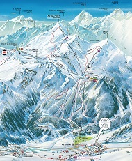 Monetier Ski Trail Map