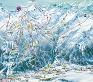 Chantemerle Villeneuve Ski Trail Map