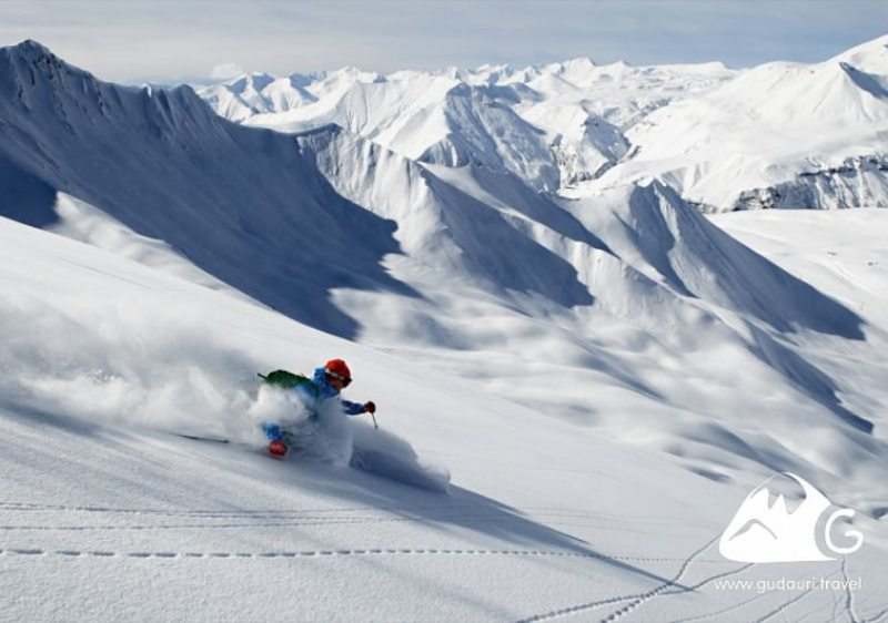 Ski powder at Gudauri. (Photo - Gudauri.Travel)