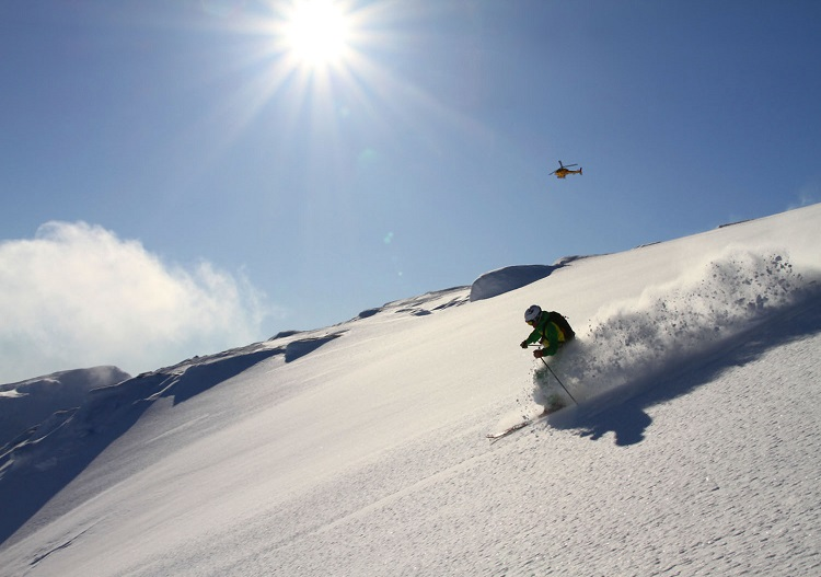 Heliskiing Europe in Sweden at Riksgransen. (photo - Andreas Bengtsson)
