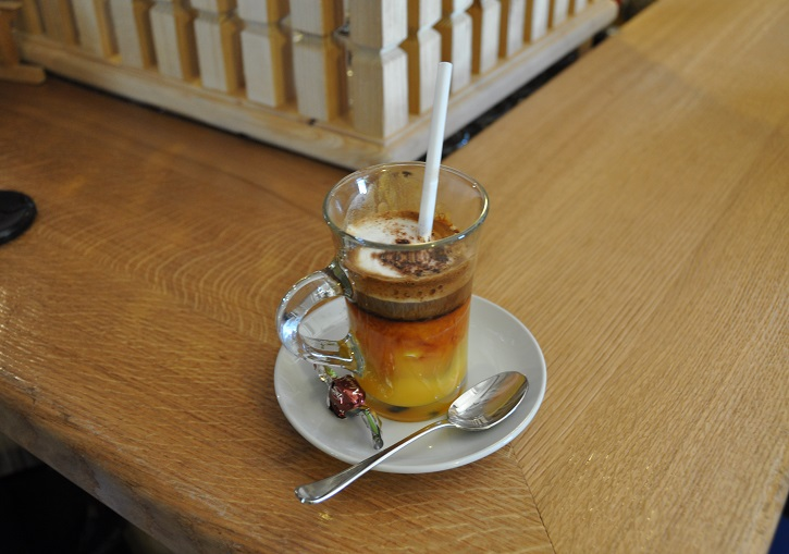 Ski Italy and start the morning with a calimero - brandy eggnog & espresso.