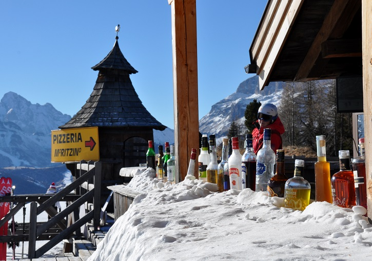 Apres ski Italy. Not as rowdy as Austria, but more refined & still great fun.
